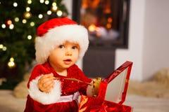 圣诞老人婴孩 免版税库存图片