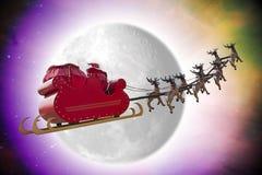 圣诞老人幻想 库存照片