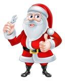 圣诞老人水管工概念 库存图片