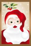 圣诞老人画象  免版税库存图片