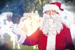 圣诞老人画象 免版税图库摄影