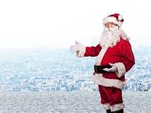 圣诞老人画象 免版税库存照片