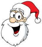 圣诞老人头画象 免版税图库摄影
