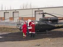 圣诞老人登陆了 免版税库存照片