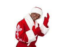 黑圣诞老人 免版税库存照片