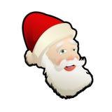 圣诞老人头  免版税库存照片