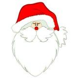 圣诞老人头 免版税库存图片