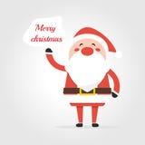 圣诞老人说 免版税库存照片