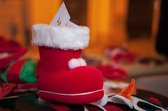 圣诞老人` s起动 库存图片