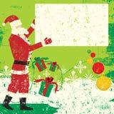 圣诞老人・ sign夫人 免版税库存图片