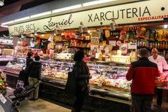 圣诞老人Caterina市场,巴塞罗那西班牙 库存图片