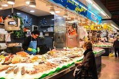 圣诞老人Caterina市场,巴塞罗那西班牙 图库摄影