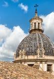 圣诞老人Caterina教会圆顶看法在巴勒莫,西西里岛 免版税库存图片