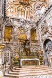 圣诞老人Caterina教会的法坛在巴勒莫 免版税库存图片