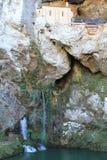 圣诞老人Cueva de科瓦东加, Cangas de OnAss,西班牙 库存照片