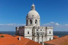 圣诞老人Engracia全国万神殿教会在里斯本,口岸 免版税库存照片