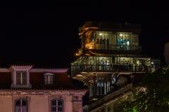 圣诞老人Justa推力在中央里斯本,葡萄牙 免版税图库摄影