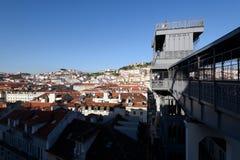 圣诞老人Justa推力,里斯本,葡萄牙 免版税库存照片