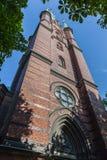 圣诞老人Klara教会斯德哥尔摩瑞典 免版税图库摄影