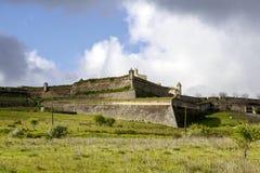 圣诞老人Luzia堡垒在Elvas 免版税库存照片