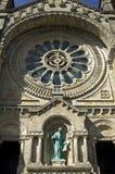 圣诞老人Luzia教会维亚纳堡圆花窗  库存图片