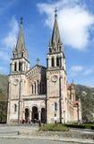 圣诞老人María la大教堂实际Covadonga 库存图片