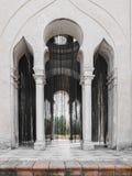 圣诞老人MarAaa de las奎瓦斯修道院  La Cartuja,塞维利亚,西班牙 奥拉夫尼古拉黑色成珠状帷幕2004年 免版税库存照片
