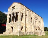 圣诞老人MarAaa del Naranco教会在奥维耶多 库存图片