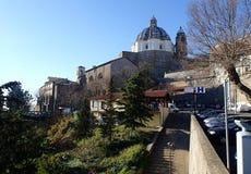 圣诞老人Margherita,蒙泰菲亚斯科内大教堂,意大利大教堂  免版税库存照片
