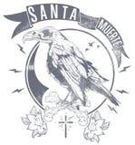 圣诞老人Muerte信使 免版税库存照片