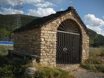 圣诞老人Orosia偏僻寺院在Sabiñà ¡ nigo镇 免版税库存照片