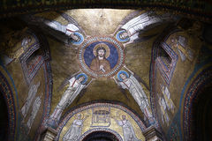 圣诞老人Prassede在罗马意大利是安置柱子涉嫌的段耶稣被鞭打和侵权行为的一个小教会 免版税库存图片
