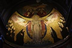圣诞老人Prassede在罗马意大利是安置柱子涉嫌的段耶稣被鞭打和侵权行为的一个小教会 图库摄影