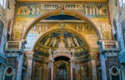 圣诞老人Prassede大教堂在罗马,意大利 库存照片