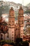 圣诞老人Prisca教会在Taxco,格雷罗州,墨西哥 免版税库存照片