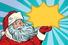 圣诞老人promotinal拷贝空间 免版税库存照片