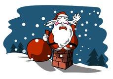 圣诞老人sos 免版税库存图片