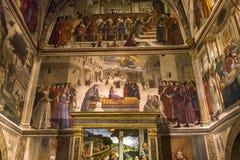 圣诞老人Trinita教会,佛罗伦萨,意大利 免版税库存照片