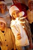 圣诞节、寒假、新年党和家庭观念 库存照片