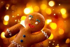 圣诞节。姜饼人 图库摄影