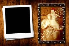 圣诞节一个空的框架 库存图片
