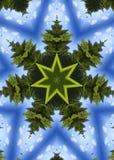 圣诞节万花筒结构树 免版税库存照片