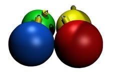 圣诞节上色了玻璃说明的装饰品 免版税库存照片