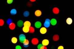 圣诞节上色闪烁装饰的重点  免版税库存图片