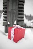 圣诞节下来在农场 库存照片