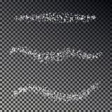 圣诞节下跌的雪传染媒介抽象线隔绝了 装饰雪花线汇集,Xmas 向量例证