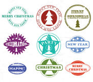 圣诞节不加考虑表赞同的人 库存例证