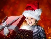 圣诞节不可思议的礼物盒 库存图片