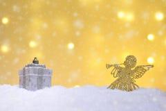 圣诞节不同的装饰品 图库摄影