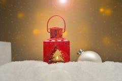 圣诞节不同的装饰品 免版税库存图片